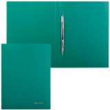 Папка с металлическим скоросшивателем BRAUBERG Стандарт, зеленая, до 100 листов, 0,6мм, 221631