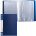 Папка 40 вкладышей BRAUBERG «Contract» (БРАУБЕРГ «Контракт»), синяя, антибликовые вкладыши, 0,7 мм