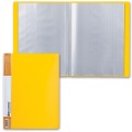 Папка 40 вкладышей BRAUBERG «Contract» (БРАУБЕРГ «Контракт»), желтая, антибликовые вкладыши, 0,7 мм