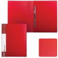 Папка с металлическим скоросшивателем и внутренним карманом BRAUBERG Contract, красная, до 100 лист, 0,7мм,бизнес-класс