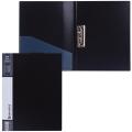 Папка с боковым металлическим прижимом и внутренним карманом BRAUBERG Contract, чер, до 100лист, 0,7мм,бизнес-класс