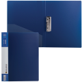 Папка с боковым металлическим прижимом и внутренним карманом BRAUBERG Contract, синяя, до 100лист,0,7мм,бизнес-класс