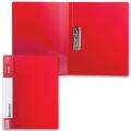 Папка с боковым металлическим прижимом и внутренним карманом BRAUBERG Contract, красная, до 100лис, 0,7мм,бизнес-класс