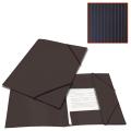 Папка на резинках BRAUBERG «Contract» (БРАУБЕРГ «Контракт») черная, до 300 л., 0,5 мм, бизнес-класс