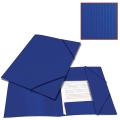 Папка на резинках BRAUBERG «Contract» (БРАУБЕРГ «Контракт») синяя, до 300 л., 0,5 мм, бизнес-класс