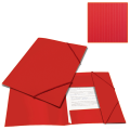 Папка на резинках BRAUBERG «Contract» (БРАУБЕРГ «Контракт») красная, до 300 л., 0,5 мм, бизнес-класс