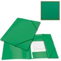 Папка на резинках BRAUBERG «Contract» (БРАУБЕРГ «Контракт») зеленая, до 300 л., 0,5 мм, бизнес-класс