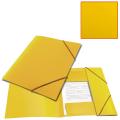 Папка на резинках BRAUBERG «Contract» (БРАУБЕРГ «Контракт») желтая, до 300 л., 0,5 мм, бизнес-класс