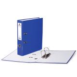 Папка-регистратор BRAUBERG ламинированная, 80 мм, синяя, 222069