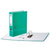 Папка-регистратор BRAUBERG ламинированная, 80 мм, светло-зеленая, 222070