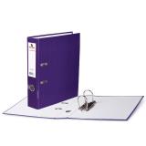 Папка-регистратор BRAUBERG ламинированная, 80 мм, фиолетовая, 222073