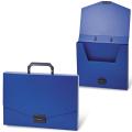 Портфель пластиковый BRAUBERG «Energy» (БРАУБЕРГ «Энерджи»), А4, 256-330 мм, без отделений, синий