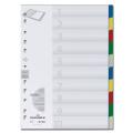 Разделитель пластиковый DURABLE (Германия) для папок, цифр. 1-10, цв.