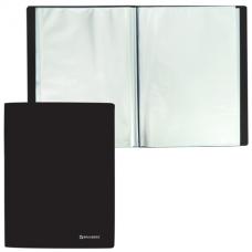 Папка 10 вкладышей BRAUBERG (БРАУБЕРГ) «Бюджет», черная, 0,5 мм