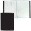 Папка 100 вкладышей BRAUBERG (БРАУБЕРГ) «Бюджет», черная, 0,8 мм