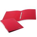 Папка с пластиковым скоросш. BRAUBERG Office, красная, до 100 листов, 0,5мм, 222643