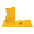 Папка-регистратор BRAUBERG «Comfort» (БРАУБЕРГ «Комфорт») с 2-сторонним ПВХ-покрытием, 70 мм, желтая