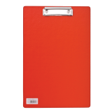 Доска-планшет BRAUBERG «Comfort» (БРАУБЕРГ «Комфорт»), с верхним прижимом, А4, 23-35 см, картон/ПВХ, красная