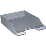 Лоток горизонтальный для бумаг BRAUBERG-CONTRACT, серый, 230880