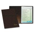 Папка «Меню» с 10 вкладышами, коричневая