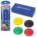 Набор для магнитно-маркерной доски BRAUBERG (БРАУБЕРГ) (магн. стиратель, магниты 30 мм, 6 шт.)