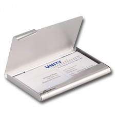 Визитница карманная DURABLE (Германия) на 20 визиток, алюминиевая
