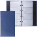 Визитница на кольцах BRAUBERG «Favorite» (БРАУБЕРГ «Фаворит») на 240 визиток, «фактурная кожа», темно-синяя