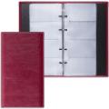 Визитница на кольцах BRAUBERG «Imperial» (БРАУБЕРГ «Империал») на 240 визиток, «гладкая кожа», бордовая
