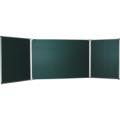 Доска для мела магнитная BOARDSYS, 100-170/340 см, 3-элементная, 5 рабочих поверхностей, зеленая