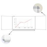 Доска магнитно-маркерная BRAUBERG (БРАУБЕРГ), 100-150/300 см, 3-элементная, белая, ГАРАНТИЯ 10 ЛЕТ