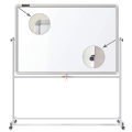 Доска магнитно-маркерная BRAUBERG (БРАУБЕРГ) 2-сторонняя, 60-90 см, передвижная, улучшенная алюминиевая рамка, ГАРАНТИЯ 10 ЛЕТ