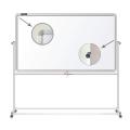 Доска магнитно-маркерная BRAUBERG (БРАУБЕРГ) 2-сторонняя, 90-120 см, на стенде, улучшенная алюминиевая рамка, ГАРАНТИЯ 10 ЛЕТ