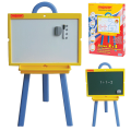 Доска для мела и магнитно-маркерная ПИФАГОР, 2-сторонняя, 45-60 см, на стенде, зеленая/белая, ГАРАНТИЯ 10 ЛЕТ