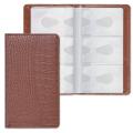 Визитница/кредитница трехрядная BRAUBERG «Cayman» (БРАУБЕРГ «Кайман») на 96 карт, «кожа крокодила», коричневая