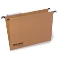 Подвесные папки картонные BRAUBERG (БРАУБЕРГ, Италия), комплект 10 шт., 370-245 мм, до 80 л., FC, 220/240 г/м<sup>2</sup>, пластиковые табул.