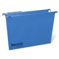 Подвесные папки картонные BRAUBERG (БРАУБЕРГ, Италия), комплект 10 шт., 370-245 мм, до 80 л., FC, синие, 230 г/м<sup>2</sup>, табуляторы