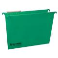 Подвесные папки картонные BRAUBERG (БРАУБЕРГ, Италия), комплект 10 шт., 370-245 мм, до 80 л., FC, зеленые, 230 г/м<sup>2</sup>, табуляторы