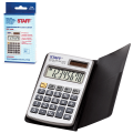 Калькулятор STAFF карманный металлический STF-1008, 8 разрядов, двойное питание, 103х62мм, 250115