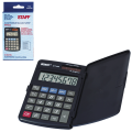 Калькулятор STAFF карманный STF-899, 8 разрядов, двойное питание, 117х74мм, 250144
