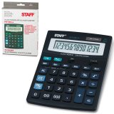Калькулятор STAFF настольный STF-888-14, 14 разрядов, двойное питание, 200х150мм, 250182