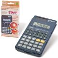 Калькулятор STAFF инженерный STF-310, 10+2 разрядов, двойное питание, 142х78мм, 250279