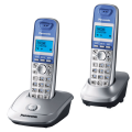 Радиотелефон PANASONIC KX-TG2512 RUS + дополнительная трубка, память 50 номеров, АОН, повтор, радиус 10-100 м, цвет серебристый