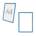 Рамка-POS для ценников, рекламы и объявлений А4, синяя, без защитного экрана