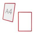 Рамка-POS для ценников, рекламы и объявлений А4, красная, без защитного экрана