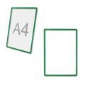 Рамка-POS для ценников, рекламы и объявлений А4, зеленая, без защитного экрана