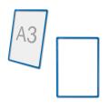 Рамка-POS для ценников, рекламы и объявлений А3, синяя, без защитного экрана
