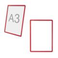 Рамка-POS для ценников, рекламы и объявлений А3, красная, без защитного экрана
