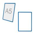 Рамка-POS для ценников, рекламы и объявлений А5, синяя, без защитного экрана