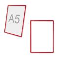 Рамка-POS для ценников, рекламы и объявлений А5, красная, без защитного экрана
