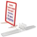 Держатель рамки-POS настольный, для установки под углом 90 градусов к поверхности, прозрачный